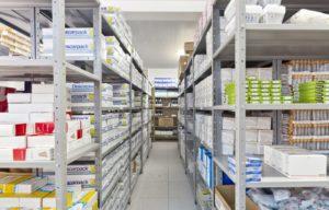 Armazenagem hospitalar: galpão para armazenagem de medicamentos