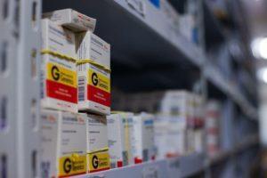 Armazenamento de produtos hospitalares